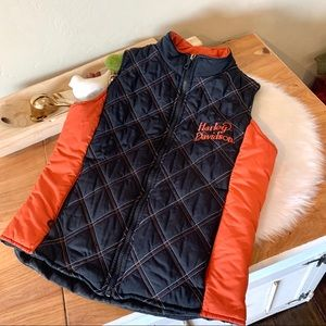 Harley Davidson quilted vest excellent condition
